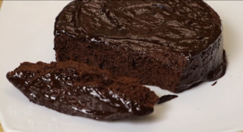 Шоколадный пирог в микроволновке без муки и сахара